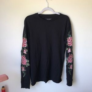 PacSun Embroidered Flower Long Sleeve